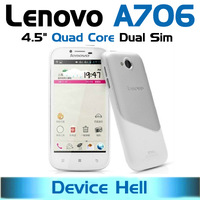 in stock free shipping original lenovo a706 phone dual sim white phone qualcomm quad core dual camera wifi gps navigation
