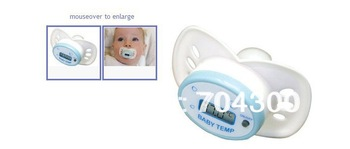 New Pacifier Babies Stocking Stuffer  Cherub Baby Pacifier Shaped Electronic Digital Thermometer