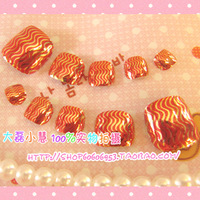 Free shipping feet nail tips Metal nail art finished products toe nail tips  24 false nail