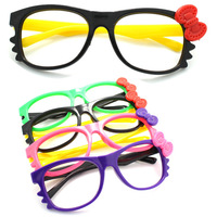 Child glasses frame hellokitty lenses frame bow decoration glasses