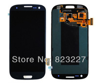 With frame White & Blue LCD Display Digitizer Touch Screen Assembly For Samsung Galaxy S 3 III i9300 i535 T999 i747
