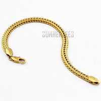 New Arrival Fashion Jewelry 6mm Mens Womens 18K Yellow Gold Filled Bracelet Herringbone Chain Gold Jewellery Free Shipping GFB09