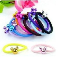 Free shipping!Lovely Cartoon Design Candy Color Hair  Rope Hair band Fashion Hair Ring Elastic Rubber Band  100pcs/lot   R-0230