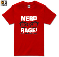 Summer The Big Bang Theory TBBT Sheldon Nerd Rage glasses mens cool short-sleeve t-shirt tee male casual clothing basic tops