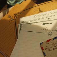 Hearts . letter pad vintage love letter pad 2 8pcs/set