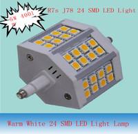 R7S J78 78mm Warm White 24 SMD LED Light Lamp Bulb 5W 400LM 3200K 20pcs