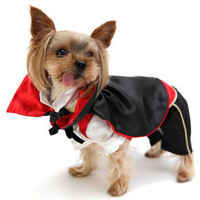 new 2014 Dog clothes for pet products fashion dogs clothing Vampire Counts costume Count dracula suit Free Shipping
