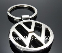 MOQ:50PCS Car Accessories Volkswagen 3D Car Logo Silvery Metal Keyring keychain keyfob for cars