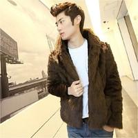 Men's clothing fur fox fur coat rabbit fur male short fur design
