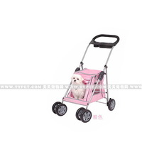 collapsible bucket pet stroller dog cat general pink dog trolley trailer pet carts free shipping by EMS