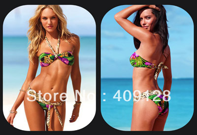 2013 new vs swimwear women push up leopard swimwear bikini for women hot swimsuit women bathingsuit , bathing wear(China (Mainland))