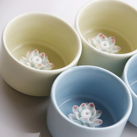 Jingdezhen ceramic accessories unique handmade home decoration cup incense holder