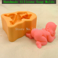Cheap 3D Lifelike Baby Boy - Silicone Candle/Soap/Cake Decorating Mold For sale - Free Shipping