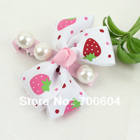 Min Order $15, 10 pcs/lot Cute Bowknot Hair Clips w/ Imitation Pearl, Baby Hairpins, Kids Girl Hair Jewelry, Wholesale, TS13597