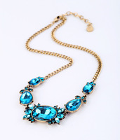 Min $20 (can mix) free shipping  fashion  brief design vintage short necklace
