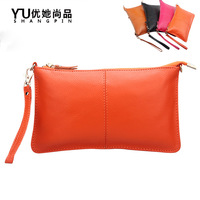 Latest woman Clutch design  candy color dinner leather bag
