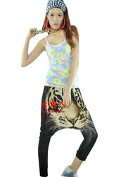 Hiphop hip-hop pants tiger print big hiphop jazz dance ds harem pants 1021(China (Mainland))