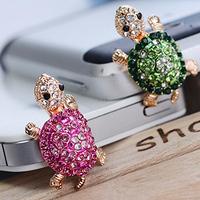 30pcs/Lot  Crystal Tortoise Anti Dust plug for 3.5mm earphone,Cell phone Dust earplugs, Dust Plug For iiiphone headphones,