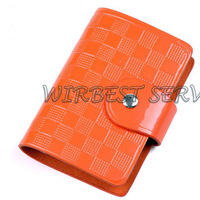 Free shipping High Quality Fashion  Plaid Embossed Genuine Cow Leather Credit Name Card Holder case(CH10)