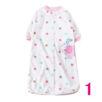 1pcs Free shipping polar fleece carters Dot pattern infant sleeping bag