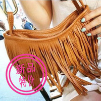 2014Bags fashion tassel bag messenger bag small bag big buckle tassel shoulder bag female bagsags
