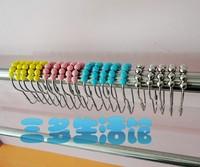 Full metal gourd ball shower curtain ring beads shower curtain hook