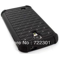Full Black Hybrid Spot Diamond Hard Case Skin Cover Samsung Galaxy S4 SIV S IV,NEW MODEL.FREE SHIPPING