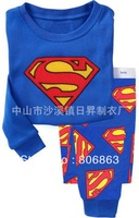 6sets/lot baby wear set 100% conton baby long sleeve pajamas boy's and girl's underwear clothing sets kids clear suits sets A044