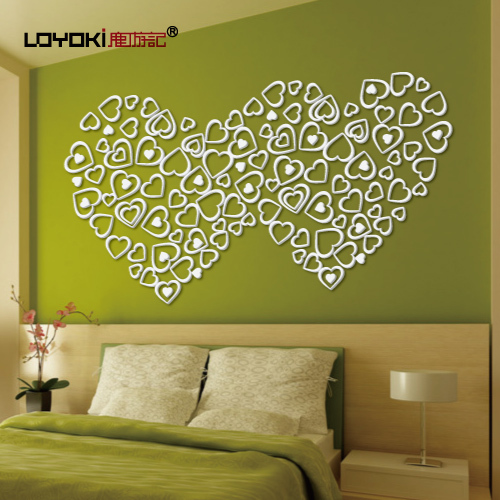 Travelogue deer heart three-dimensional wall stickers ofhead beijingqiang love new house wall decoration(China (Mainland))