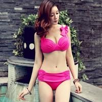 2013 new style push up sexy bikini for female good large cup plus size swimwear for women fashion  Korean style free shipping
