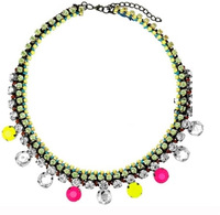 2013 NEW Fluorescent color retro short paragraph clavicle necklace Free shipping