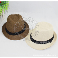 Free shipping 10pcs/lot  children straw hat,sombrero sunbonnet,baby fashion  jazz cap,top hat, baby fashion fedoras, baby dicers
