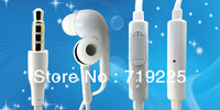 New arrival 100% Original Flat cable earphone for Samsung galaxy s4 i9500 Earphone headphone headset with mic  Free Shipping