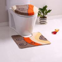 Dada orange grey piece set toilet cover toilet seats toilet seat toilet mat da5847