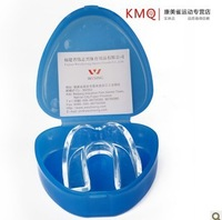 Silica gel single face transparent boxing teeth basketball mouthguard sanda protective gear box