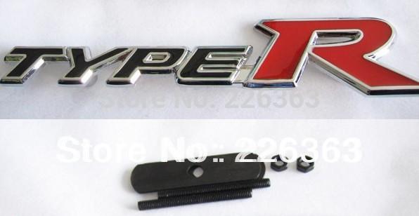 nieuwe zwarte en rode type r 3d metalen front hood grille badge ...