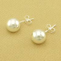 Free Shipping 925 Sterling Silver Plated Ball Stud Earrings Women Cute Earrings Nickel Free Antiallergic Wholesale FSE242