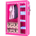 Blue square type non-woven wardrobe easy folding , simple storage wardrobe Large(China (Mainland))