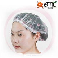 Small waterproof shower cap cpe print silk shower cap laciness shower cap 10g