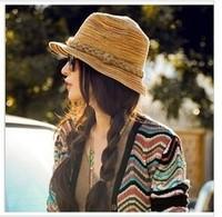 Choking hot pepper mouth latest hand plait straw hat Bohemia summer beach woman hat B200