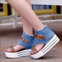2013 new fashion women summer roman shoes with waterproof fish mouth high-heeled platform sandles