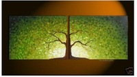 Abstract Landscape Oil Painting:Tree Of Life Guaranteed 100% Free shipping
