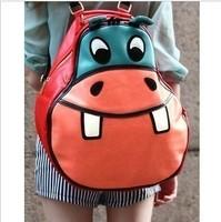 Aza autumn hippopotami bag women's cartoon backpack bag