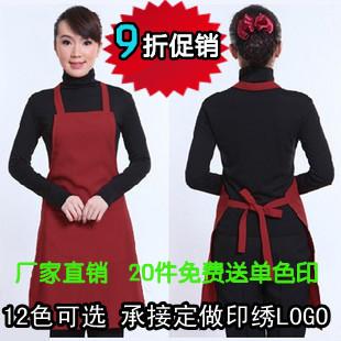 Free shipping wholesale Work wear apron kitchen apron 950 logo(China (Mainland))