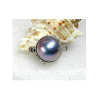 Wholesale Jewelry Clasp Exquisite 17mm Blue Color Sea Shell Pearl Clasp Fashion Gem Stone Jewelry Clasp New Free Shipping
