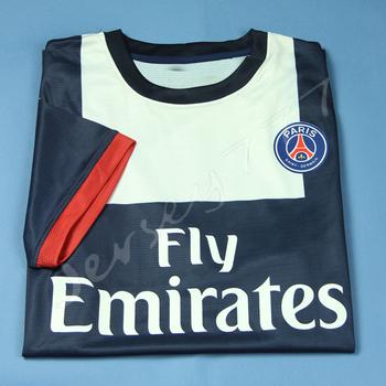 New arrival Paris Saint Germain PSG jerseys 2013 2014 Home soccer uniforms Player version Blank
