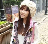 Winter hat female autumn and winter knitted hat knitted hat beret winter hat