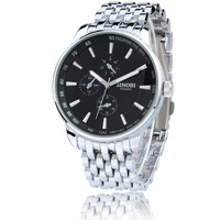 Fashion watch lovers watch fashion table stainless steel belt of the trend of casual mens watch