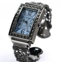 Kimio bracelet watch square cutout fashion women's sculpture bronze vintage watch 2956