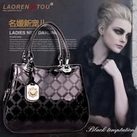 2013 women's handbag crocodile cowhide japanned leather plaid women's 138005 handbag